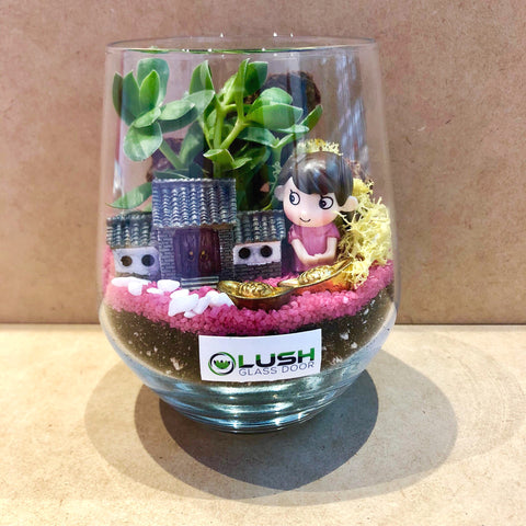 Customized Donal Succulent Terrarium by Lush Glass Door Singapore