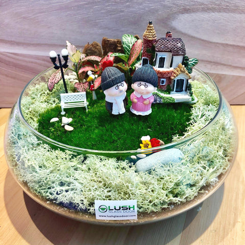 Customized The Perfect Story Holland Moss Terrarium by Lush Glass Door Singapore