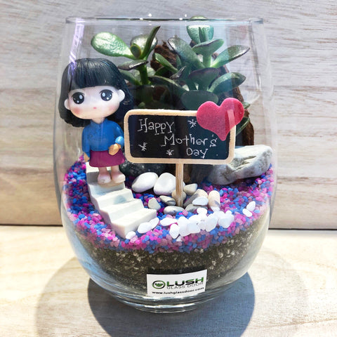 Customized Magglio Succulent Terrarium by Lush Glass Door Singapore