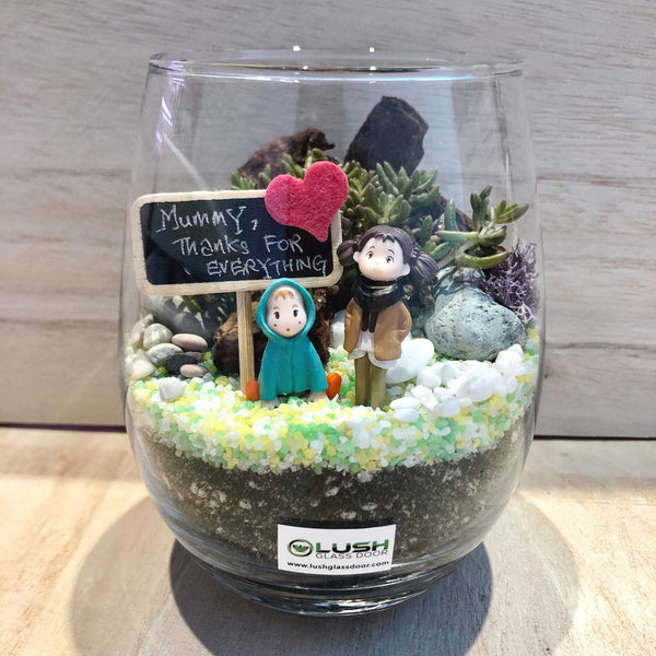 Customized Anita Succulent Terrarium by Lush Glass Door Singapore