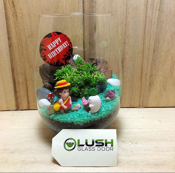 Customized April Succulent Terrarium by Lush Glass Door Singapore