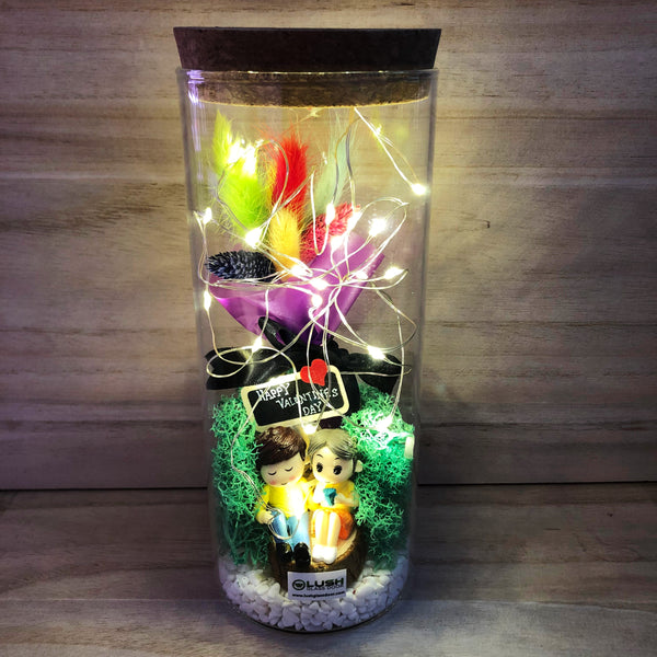 Lovett Eternal Bunny Tails Fairy Light Glass Jar Excellent Gift for Valentine's Day or Anniversary