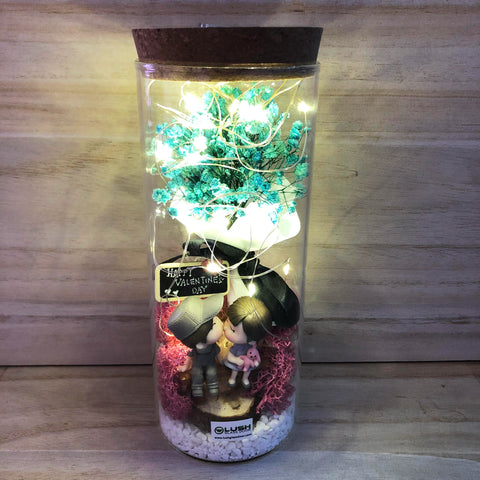 Derica Eternal Baby Breath Fairy Light Glass Jar Excelllent Gift for Valentine's Day or Anniversary