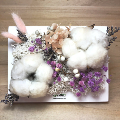 Neve Preserved Cotton Flower Desk Frame
