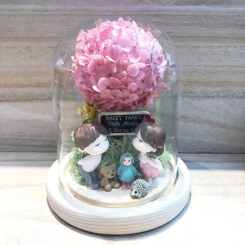 Cole Preserved Hydrangea Tree in Dome Glass