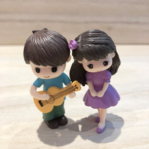 Guitar Couple Set Miniature