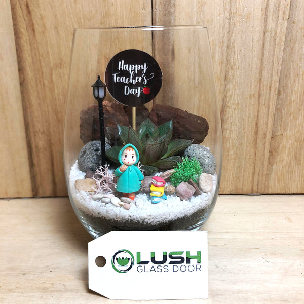 Customized Magdalena Succulent Terrarium by Lush Glass Door Singapore