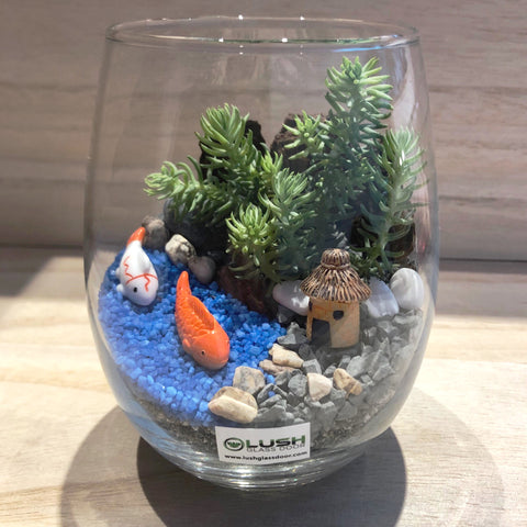 Happy Fishes Succulent Terrarium