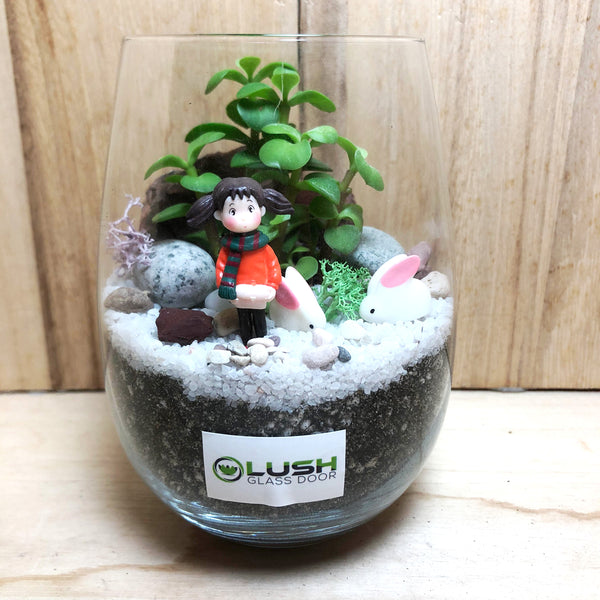 Customized Moya Succulent Terrarium by Lush Glass Door Singapore