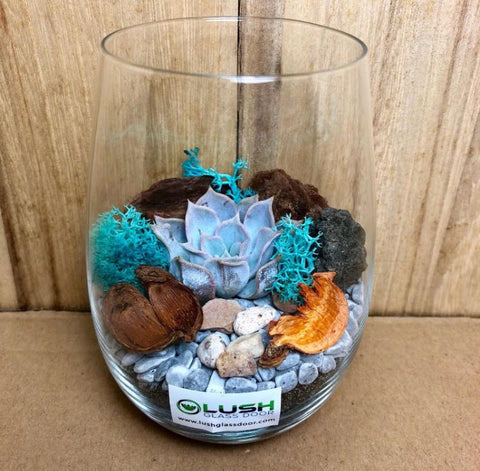 Customised Alison Zen Themed Succulent Terrarium by Lush Glass Door Singapore