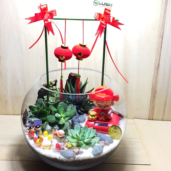 Customized Medora Auspicious CNY Terrarium by Lush Glass Door Singapore