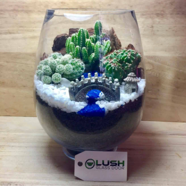 Customized Japanese Scenic Succulents Terrarium by Lush Glass Door Singapore