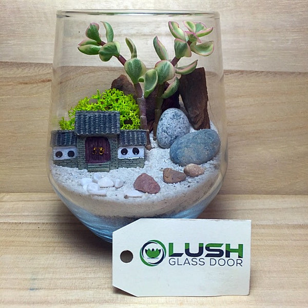Customized Cute Oriental Scenic Themed Succulents Terrarium by Lush Glass Door Singapore
