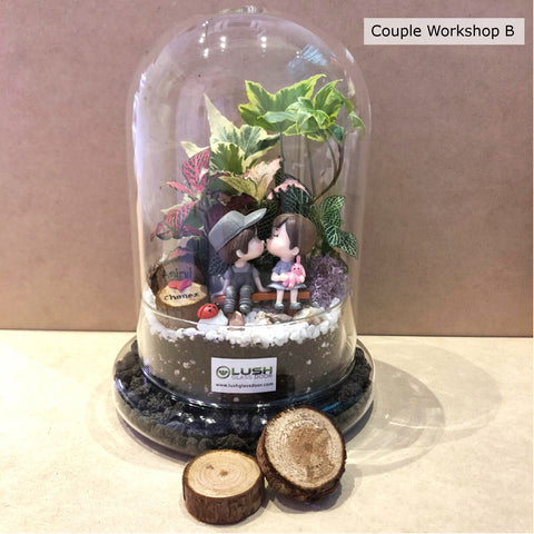 Valentine Day Couple Terrarium Workshop Package B