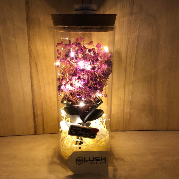 Customised Everley Nicki Baby Breath Fairy Light Glass Jar by Lush Glass Door Singapore