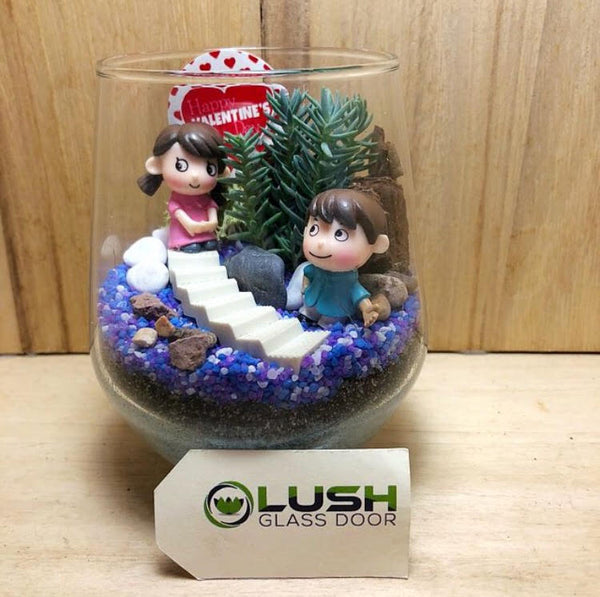 Customized Tanya Succulent Terrarium by Lush Glass Door Singapore