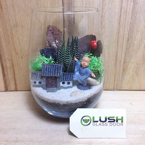 Customized Maximus Succulent Terrarium by Lush Glass Door Singapore