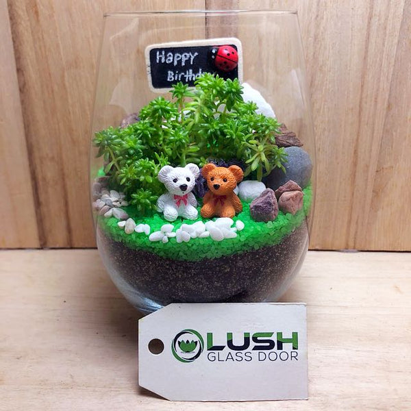 Customized Alaina Succulent Terrarium by Lush Glass Door Singapore