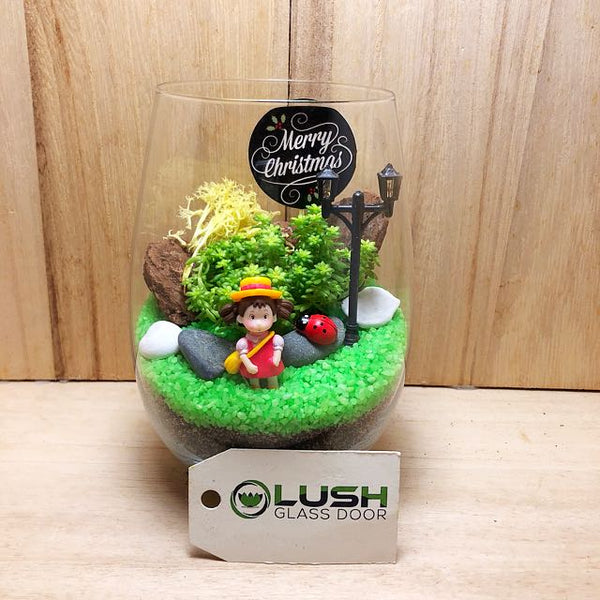 Customized Beautiful Day Succulent Terrarium by Lush Glass Door Singapore