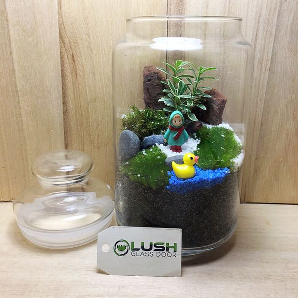 Customized Carter Holland Moss Story Jar Terrarium by Lush Glass Door Singapore
