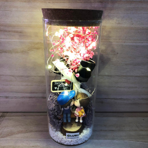 Aimee Eternal Baby Breath Fairy Light Glass Jar
