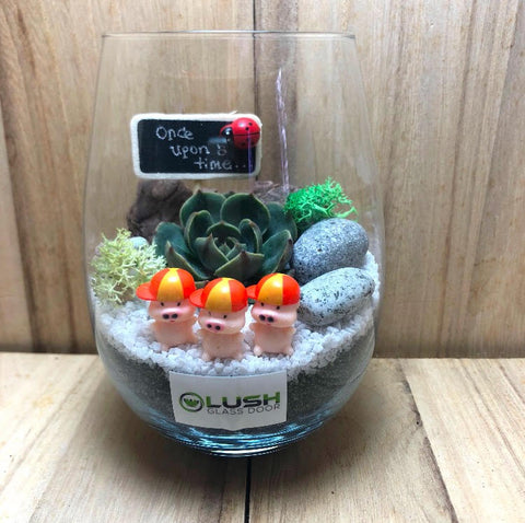 Customized Once Upon A Time Succulent Terrarium by Lush Glass Door Singapore
