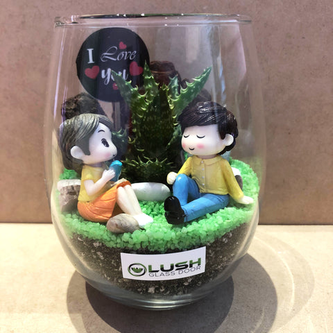 Customized Arabella Succulent Terrarium by Lush Glass Door Singapore