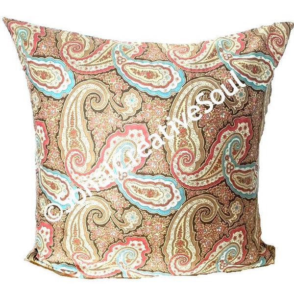 18x18 Indian Batik Envelope Pillow Cover.