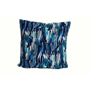 18x18 Deep Blue Marble Envelope Pillow Cover