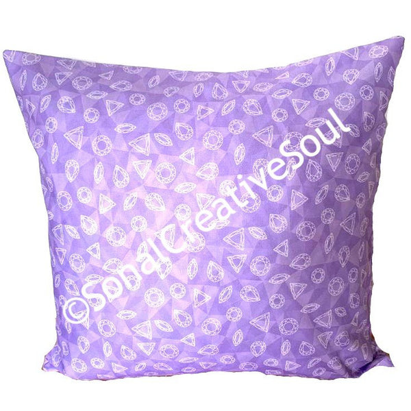 18x18 Purple Shapes Envelope Pillow Cover.