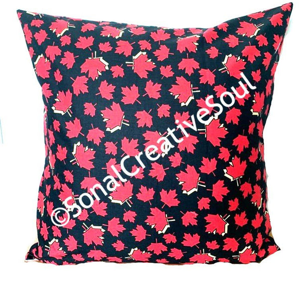 18x18 Canada Maple Leaves Envelope Pillow Cover.