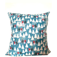 18x18 Winter Christmas Trees Envelope Pillow Cover.