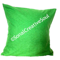 18x18 Green Christmas Envelope Pillow Cover.