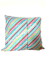 18x18 Colorful Diagonal Lines Envelope Pillow Cover.