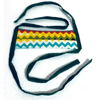 Adult Cotton Fabric Handmade Face Mask with Fabric Ties.