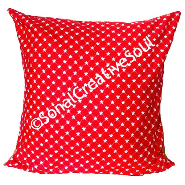 18x18 Holiday Red and White Floral Envelope Pillow Cover.