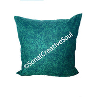 18x18 Holiday Deep Green Christmas Envelope Pillow Cover.