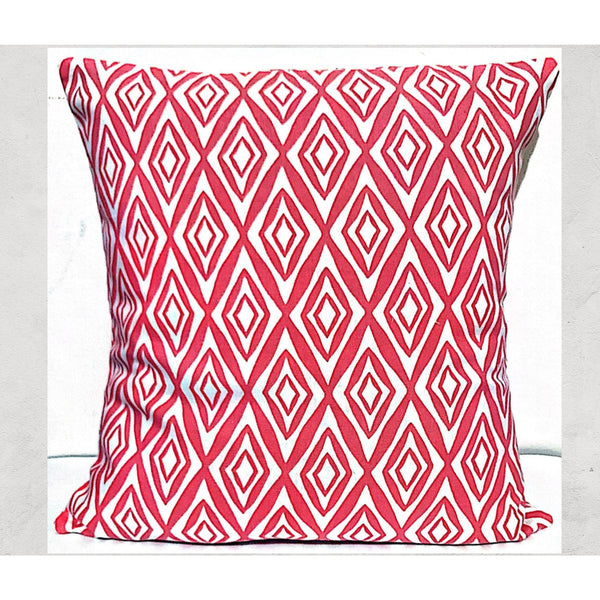 16x16 Pink Envelope Geometric Pillow  Cover.