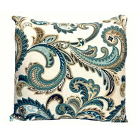 16x16 Green Floral Envelope Pillow Cover.
