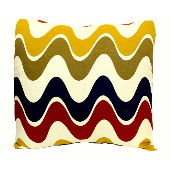 16x16 Red Blue Yellow Modern Designer Envelope Pillow Cover.