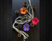 Simple Minimalist Macrame Cotton Plant Hanger.