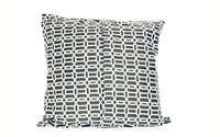 18x18 Gray White Geometric Envelope Pillow Cover.