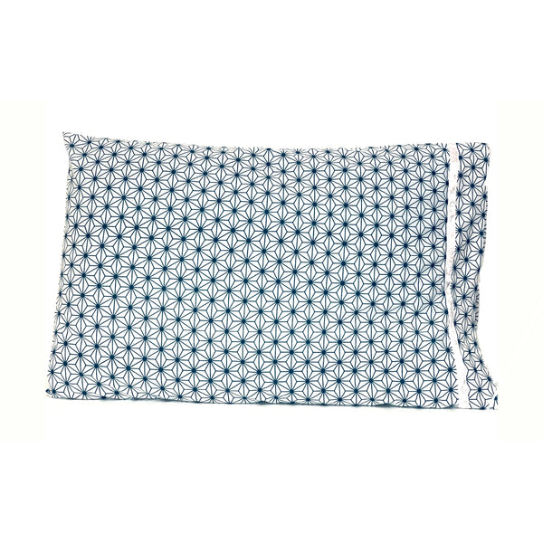 Blue White Geometric 20x30 Pillowcase Set of Two PillowCases.
