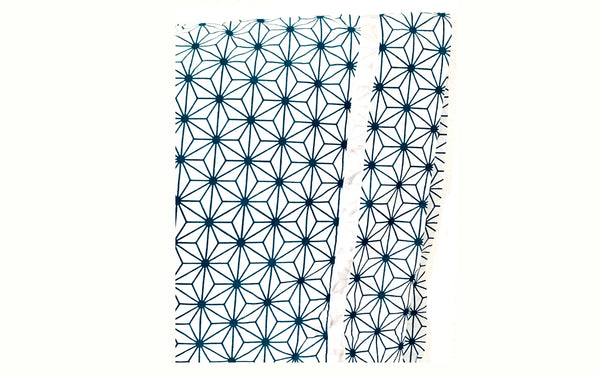 Blue White Geometric 20x30 Pillowcase Set of Two PillowCases