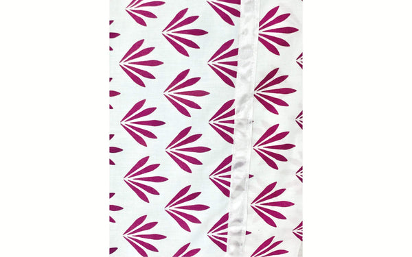 Pink White Floral leaves 20x30 Pillowcase Set of Two Pillowcases