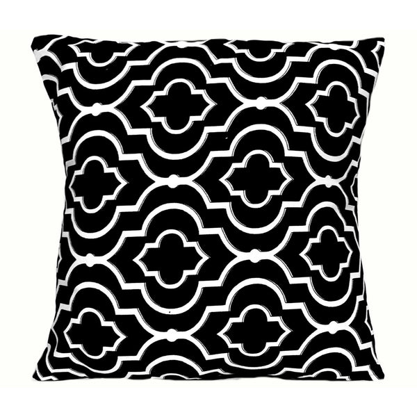 16x16 Black White Geometric Envelope Pillow Cover Handmade In Canada.
