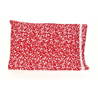 Red White Flowers 20x30 Pillowcase Set of Two Pillowcases.
