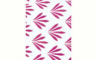 Pink White Floral leaves 20x30 Pillowcase Set of Two Pillowcases.