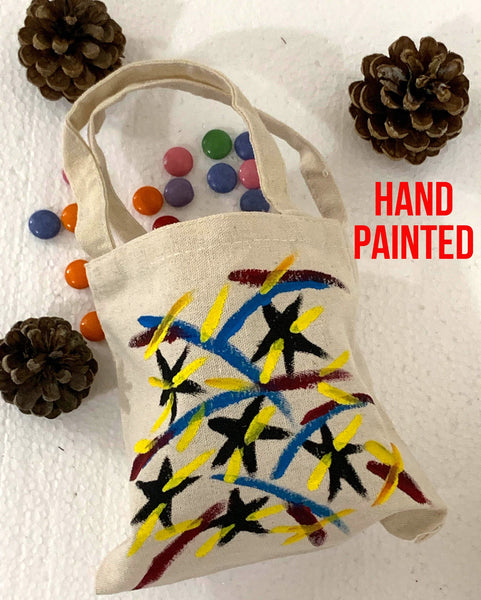 Hand Painted Cotton Canvas Tote Bag