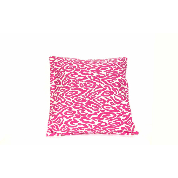 Pink White 18x18 Animal Print Envelope pillow cover.